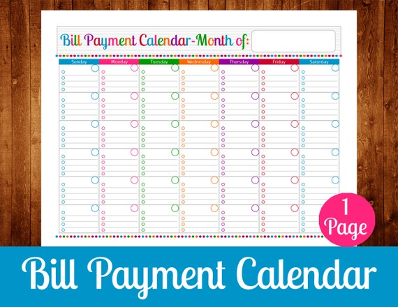 Impertinent image for free printable bill payment schedule