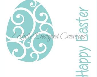 Easter Egg Stencil