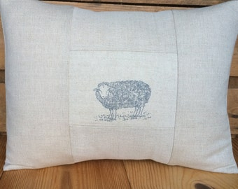 Cushion Cover in Emily Bond JACOB SHEEP fabric