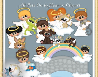 Pets Clipart, Animal,vDog, Cat, All Pets Go to Heaven