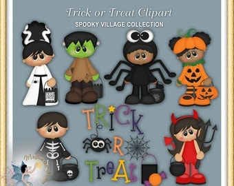 Halloween Clipart, Trick or Treat