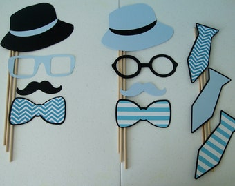 DIY-Photo Booth Props Baby Boy lil man Little Man Gender Reveal (2117D)