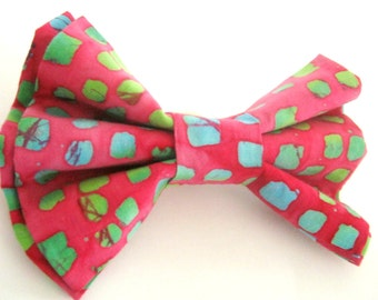Pink dog bow tie Pet bow tie Dog collar bow tie Detachable bow tie for dog / cat