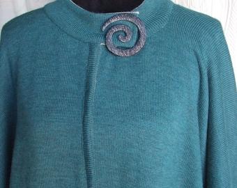 Cape poncho knitting wool coat women