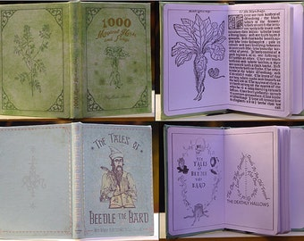 Full Set 10 School Books Harry Potter Fanmade [A6 Dimension - Blank Pages]
