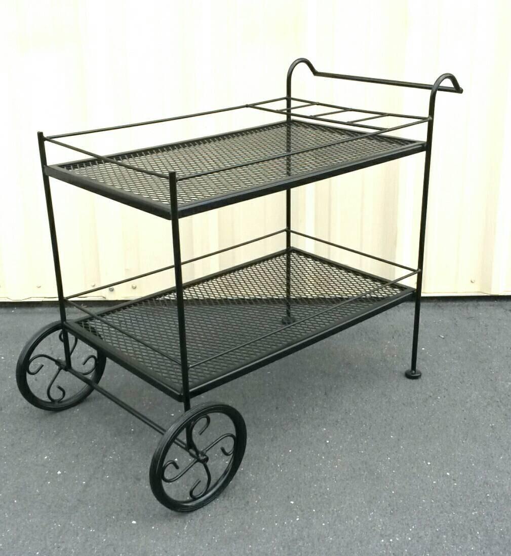 Wrought Iron Cart Bar Cart Tea Or Serving Cart Coffee Station