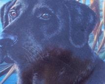 Black Labrador Dog porcelain Collector plate Franklin Mint heirloom recommendation Limited edition