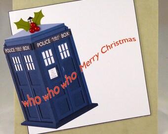 Dr Who Christmas card