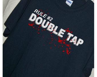 ZOMBIELAND MOVIE Rule #2 DOUBLETAP T Shirt