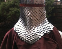 14 gauge Spangenhelm Helmet with Anodized Aluminum Scale-maille Aventail.