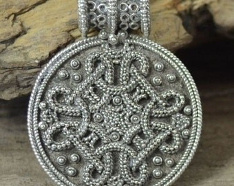 Viking Sterling Silver Pendant BIRKA Replica Copy Norse Necklace Pagan Jewel Jewelry Vikings SCA Re-enactment Medieval Middle Ages Replicas