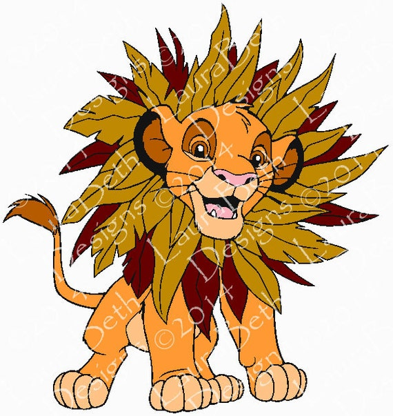 Simba The Lion King Cub Embroidery Digital Design Embroidery