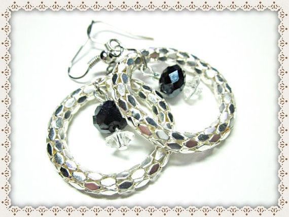 Silver Serpentine Earrings