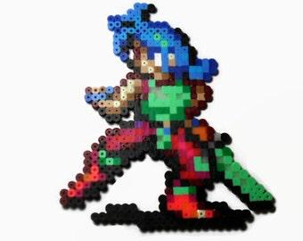 Breath of Fire 2 Ryu Perler Bead sprite - videogame sprite - video game perler - geeky gift - geekery - gamer gift - snes super nintendo