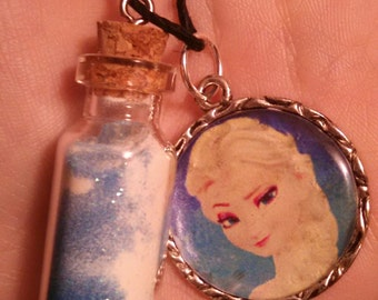Frozen glow in the dark necklace