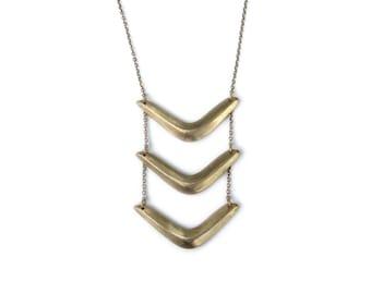 Triple Boomerang Necklace