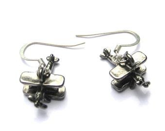 Airplane Earrings Airplane Jewelry Aviator Flight Earrings Stewardess Jewelry Wanderlust Earrings  Womans Gifts Under 20