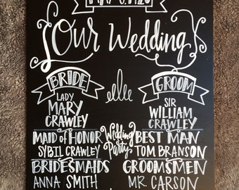 Wedding Party Signage