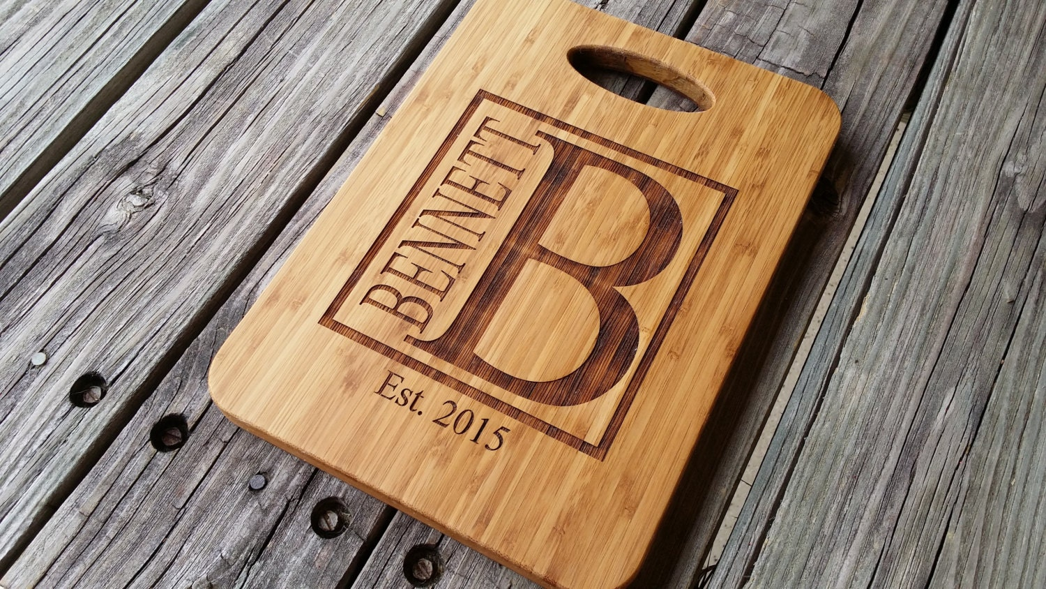 Custom cutting board personalized cutting board bamboo for Initial decorations for home