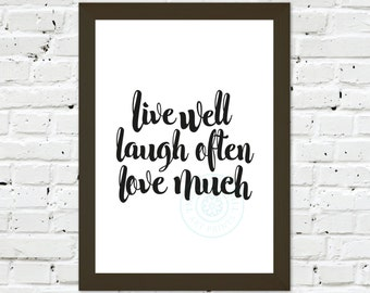0123 Typographic Inspirational motivational Print Wall Art Print Multiple Sizes