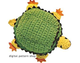 Crochet Turtle Pattern 1960s Vintage Stuffed Toy Turtle Crochet Pattern Instant Download C91