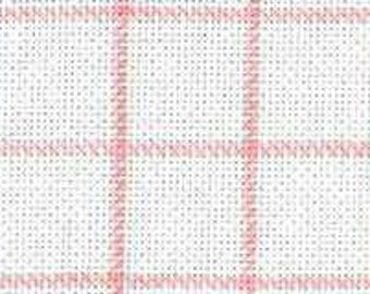 Fat Quarter (20 x 30 Inches / 50 x 76cm) of 25 Count DMC White Magic Guide Evenweave