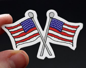 SALE!!! American Flag Die Cuts - Set of 12