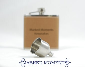 FLASK FUNNEL to Add to your Flask Order - Small Stainless Steel Flask Funnel to make filling your flasks easier