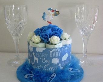 Mini Diaper Cake Centerpiece