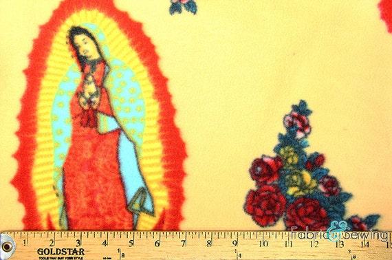 Virgin mary halo anti pill polar fleece plush by for Celestial fleece fabric
