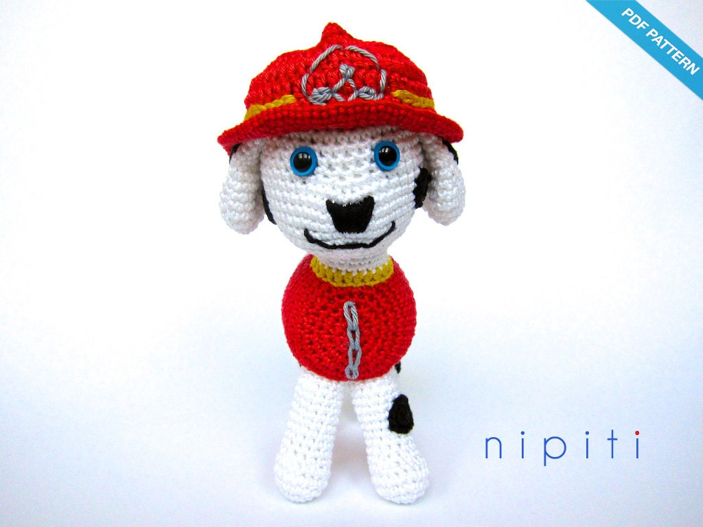 Crochet Patterns Paw Patrol : Paw Patrol Toy Pattern PDF Marshall Amigurumi by nipiti