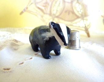 Badger Totem Figurine