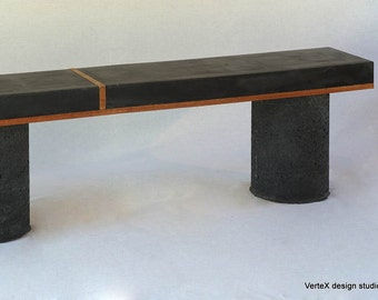 Concrete Black Bench