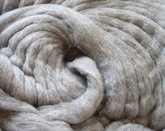 Grey Cormo Wool Roving - 4 OZ.