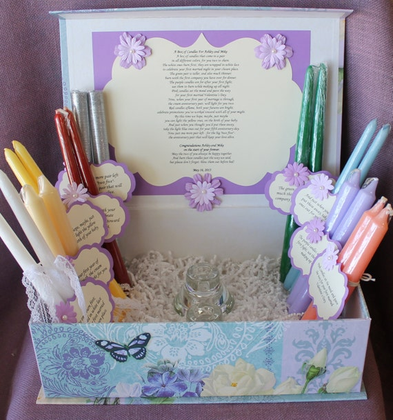 Wedding Shower Gift Basket Poem : Wedding Shower Candle Poem Gift Set. Bridal candle basket. Sentimental ...