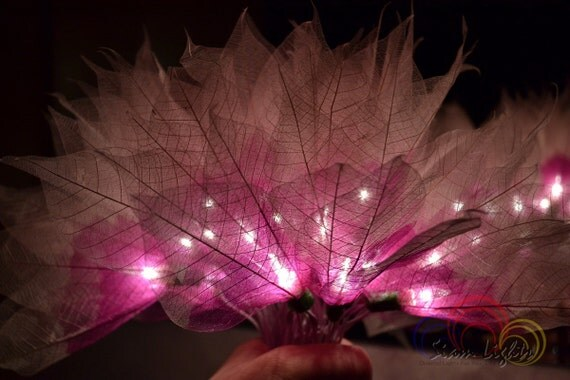 Flower String Lights Purple and White Champaka For by Siamlights