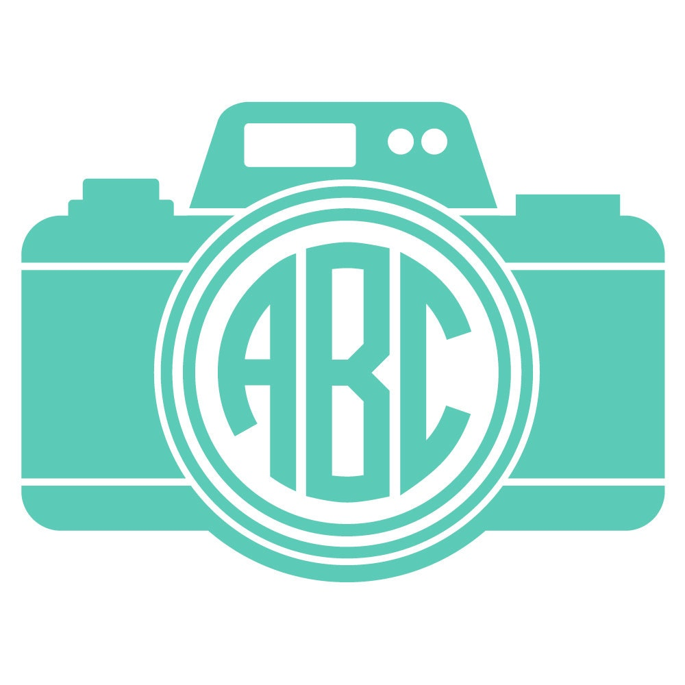 Camera Monogram Decal Sticker By Vaultvinylgraphics On Etsy