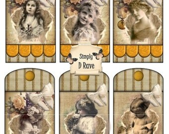 Christmas Tags 4 X 2 Angel Collage - Set of 6 - A Simply D Rave Design