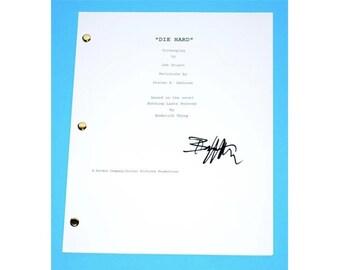 Die Hard Movie Signed Script Screenplay Written By Jeb Stuart, Autographed: Bruce Willis