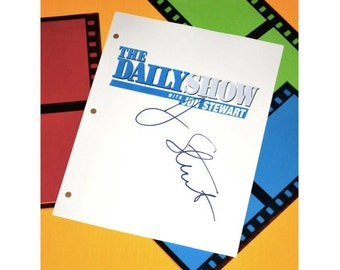 "The Daily Show with Jon Stewart, Guest Star Hugh Jackman Promotes ""Reel Steel"" Episode TV Script Autographed: Jon Stewart"
