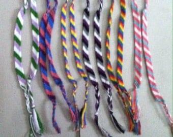 Queer Pride Trans Pride String Friendship Bracelets; LGBTQA+ Pride Flag Bracelets/Anklets