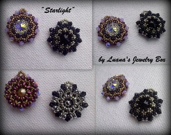 "DIY earrings/pendant ""Starlight"" beadwork tutorial."