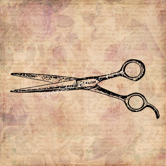 Vintage Hair Cutting Shears Antique Print by ...
