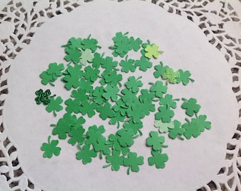 4 leaf clover confetti, St Patty's day party, shamrock confetti, St Patrick's Day , green confetti,