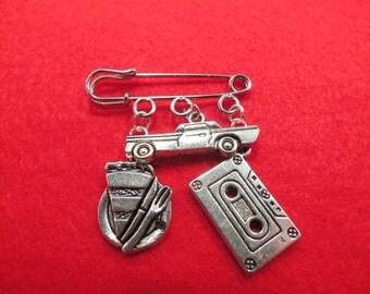 Supernatural Dean Winchester kilt pin brooch (38mm).