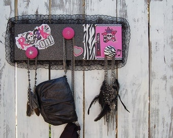 Wild Rocker Girl Necklace Holder