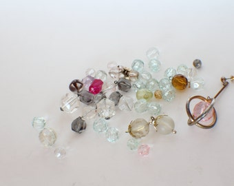 Destash lot of vintage acrylic beads