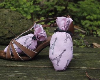 Pink Paris Inspired Shoe Sachets.