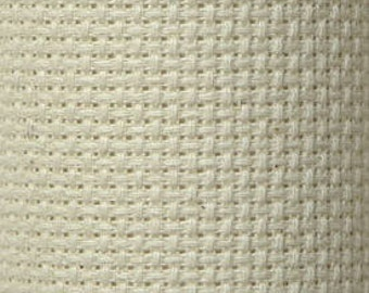 "Cream 14 Count Aida Cross Stitch Cloth 15"" X 18"""