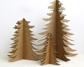 Recycled Cardboard Christmas Tree - Holiday Decor - Christmas Tree Alternative - Cardboard Christmas Decoration - CP4